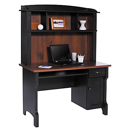 Realspace® Shore Mini Solutions Computer Desk With Hutch, Antique Black