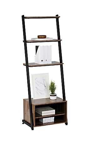 """Realspace® Belling 73""""H Leaning 3-Shelf Bookcase, Modern Oak"""