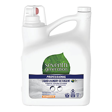 Seventh Generation™ Professional Free And Clear Liquid Laundry Detergent, 150 Oz, Carton Of 4 Bottles