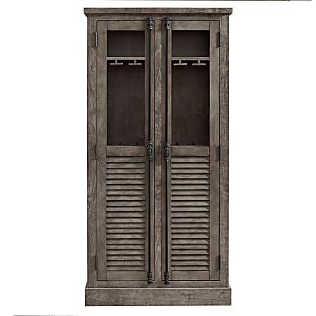 Ameriwood™ Home Sienna Park Storage Cabinet/Buffet, 4 Adjustable Shelves, Weathered Oak
