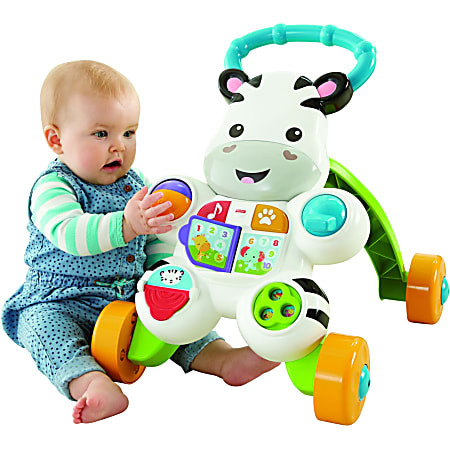 Fisher-Price Learn with Me Zebra Walker - Two Ways to Play - Teaches ABC's - 123's and More