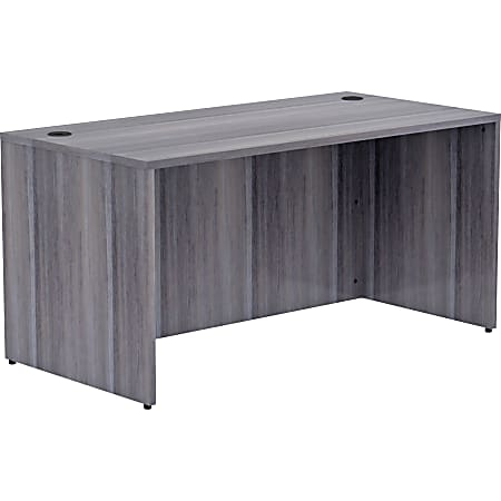 """Lorell® Essentials 60""""W Desk, Weathered Charcoal"""