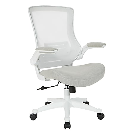 Office Star™ WorkSmart Manager Chair, Linen Stone/White
