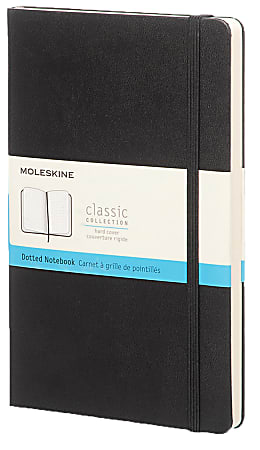 """Moleskine Classic Hard Cover Notebook, 5"""" x 8-1/4"""", Ruled, 240 Pages (120 Sheets), Black"""