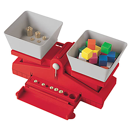 """Learning Resources® Precision School Balance With Weights, 14 1/2""""H x 6""""W x 5""""D, Grades 3 - 7"""