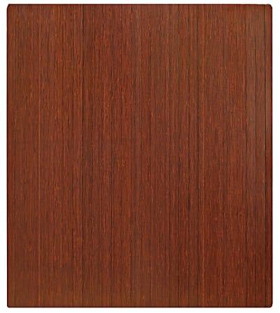 "Anji Mountain Bamboo Roll-Up Chair Mat, 48"" x 42"", 1/4""-Thick, Dark Cherry"