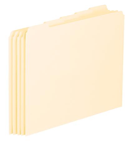 Pendaflex® File Guides, Blank, Letter Size, Manila, Pack Of 100