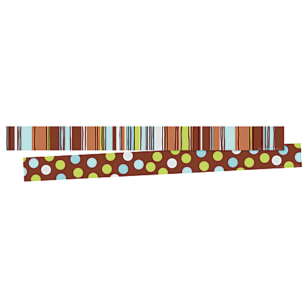 """Barker Creek Double-Sided Border Strips, 3"""" x 35"""", Ribbon By The Yard, Set Of 24"""