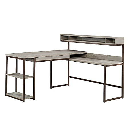 "Sauder® Manhattan Gate 61""W L-Shape Computer Desk With Wireless Charger, Mystic Oak"