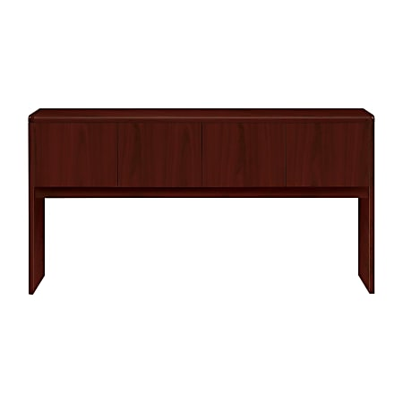 HON® 10700 Series™ Laminate Closed Hutch, For Use With Desk And Return, Mahogany