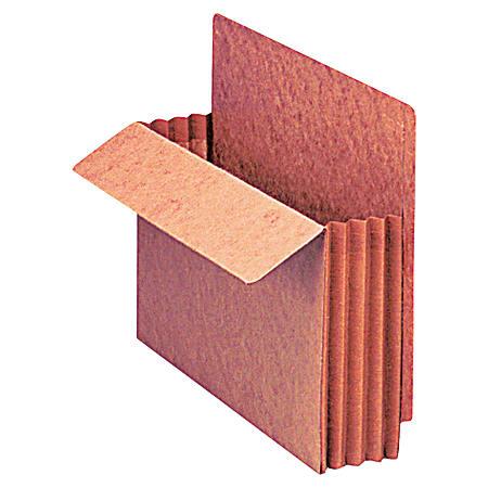 "Pendaflex® Fiber Stock Heavy-Duty Expanding Pocket Folders, 3 1/2"" Expansion, Letter Size, 30% Recycled, Red, Box Of 10 Folders"