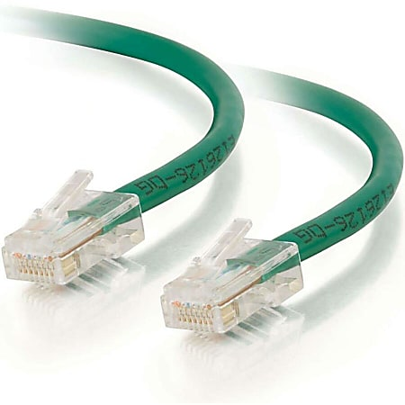 C2G-75ft Cat6 Non-Booted Unshielded (UTP) Network Patch Cable - Green - Category 6 for Network Device - RJ-45 Male - RJ-45 Male - 75ft - Green