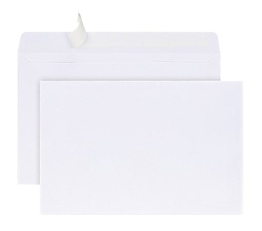 Office Depot® Brand Greeting Card Envelopes, A9, Clean Seal, White, Box Of 100