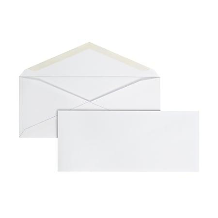 Office Depot® Brand #10 Envelopes, Gummed Seal, White, Box Of 500
