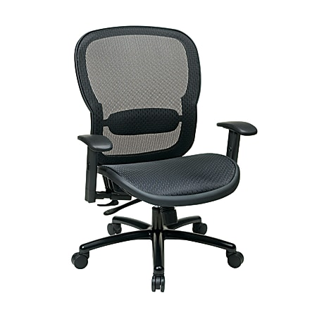 Office Star™ Breathable Ergonomic Mesh High-Back Big And Tall Executive Chair, Black