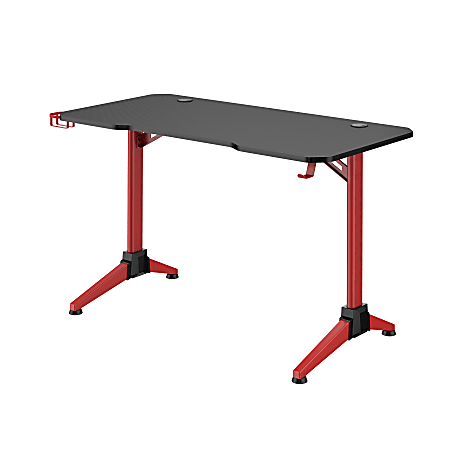 """Safco® Ultimate 48""""W Computer Gaming Desk, Black/Red"""
