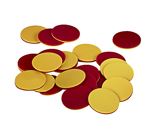 Office Depot® Brand Math Manipulative 2-Color Counters, Red/Yellow, Pre-K, Set Of 200 Counters