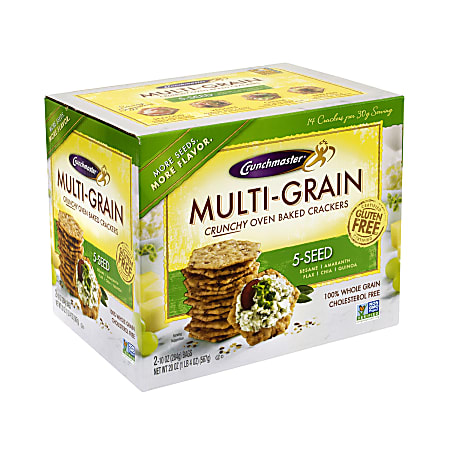 Crunchmaster 5-Seed Multigrain Crunchy Oven-Baked Crackers, 20 Oz Box