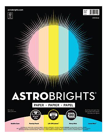 "Astrobrights® Color Paper, 8-1/2"" x 11"", 24 Lb, Assorted Colors, 500 Sheets"