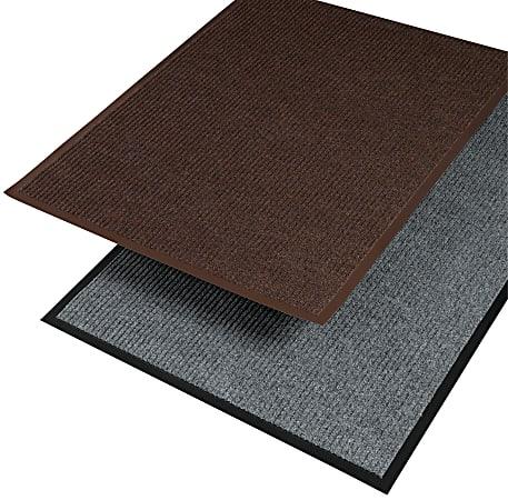 "Crown Needle Rib Wipe And Scrape Indoor Mat, 36"" x 60"", Brown"
