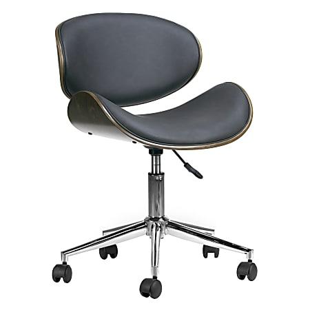 Glamour Home Amar Task Chair, Dark Gray