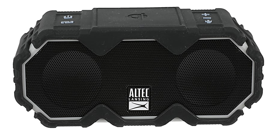 Altec Lansing® Mini LifeJacket Jolt Wireless Speaker, Black/Gray, IMW480-BLKG