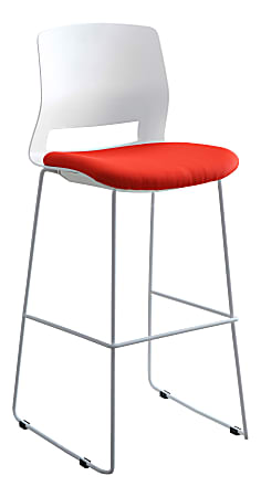 Lorell® Artic Series Stack Stools, White/Red, Set Of 2