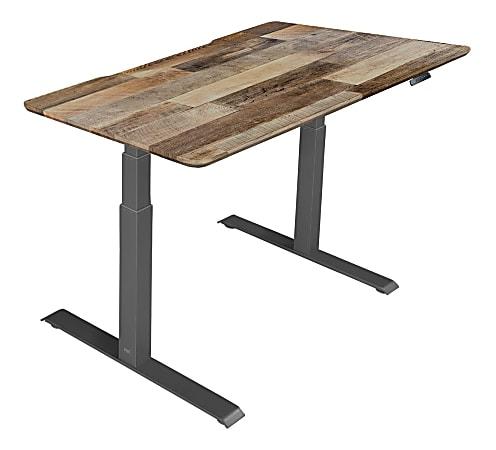 "Vari Electric Standing Desk, 48""W, Reclaimed Wood"