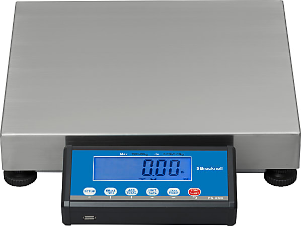 Brecknell PS-USB Portable Digital Shipping Scale, 30-Lb/15-Kg Capacity