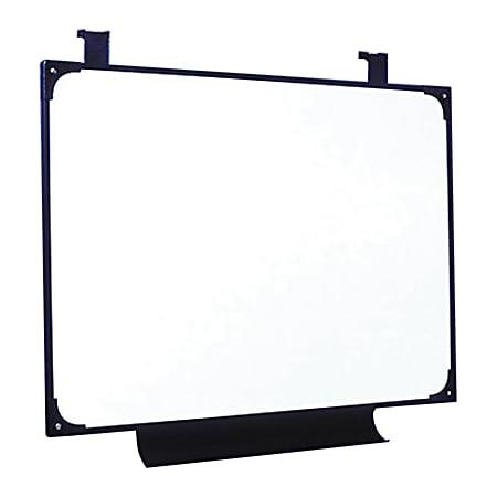 "SKILCRAFT® Melamine Dry-Erase Marker Whiteboard, 29"" x 38 1/2"", Plastic Frame With Black Finish (AbilityOne 7520 01 454 5704)"