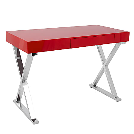Lumisource Luster Computer Desk, Red
