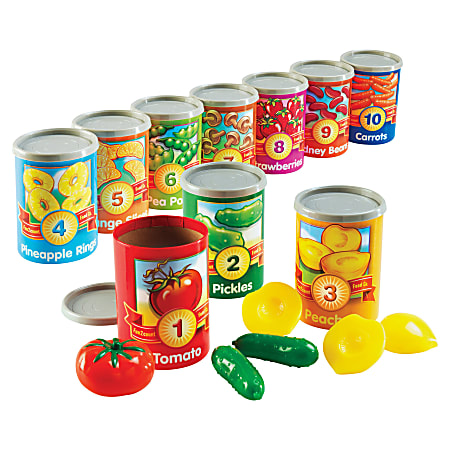 """Learning Resources® 1 To 10 Counting Cans Set, 4 1/4"""" x 3"""", Pre-K To Grade 2"""