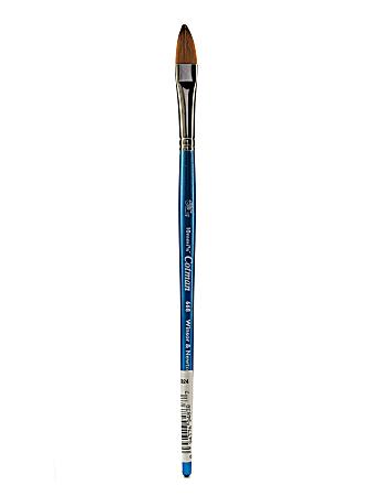 "Winsor & Newton Cotman Watercolor Paint Brush 668, 3/8"", Filbert Bristle, Synthetic, Blue"