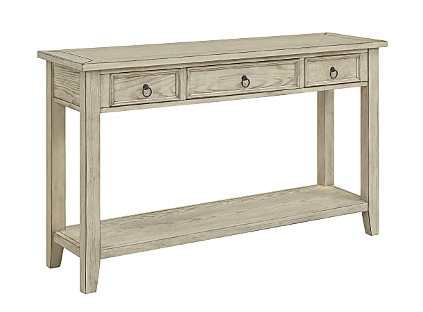 """Coast To Coast Summerville 3-Drawer Console Table, 32""""H x 54""""W x 16""""D, Off-White"""