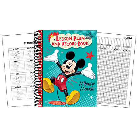 """Eureka 40-Week Lesson Plan And Record Books, 8 1/2"""" x 11"""", Mickey®, Pack Of 2"""