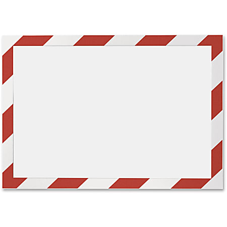 """DURABLE® DURAFRAME® SECURITY Self-Adhesive Magnetic Letter Sign Holder - Holds Letter-Size 8-1/2"""" x 11"""" , Red/White, 2 Pack"""