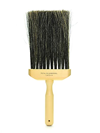 "Royal & Langnickel Faux Bristle Flogging Brush, 4"", Synthetic, Brown"