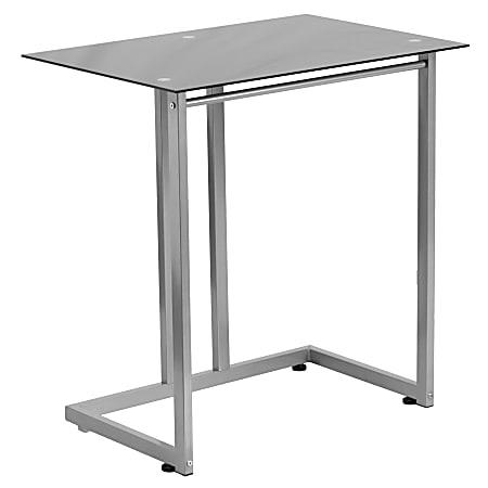 Flash Furniture Tempered-Glass Computer Desk, Black/Clear