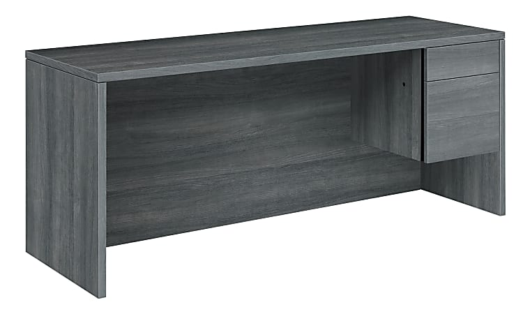"HON® 10500 Series 72""W 2-Drawer Right-Pedestal Credenza Desk, Sterling Ash"