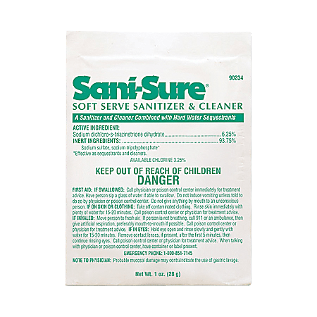 JohnsonDiversey™ Soft-Serve Sanitizer Cleaner, 0.99 Oz Bottle