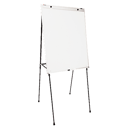 """SKILCRAFT® Magnetic Tabletop/Floor Dry-Erase Whiteboard, 29"""" x 40"""", Steel Frame With Silver Finish (AbilityOne 7520 01 642 1219)"""