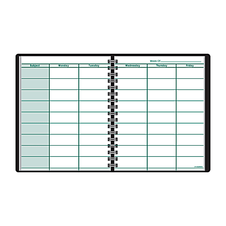 """AT-A-GLANCE® Undated Teacher's Planner, 8 1/4"""" x 10 7/8"""", 30% Recycled, Black"""