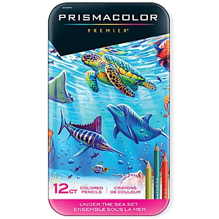 Prismacolor Premier Colored Pencil Set, 0.7 mm, Soft Core, Under The Sea, Set Of 12 Pencils