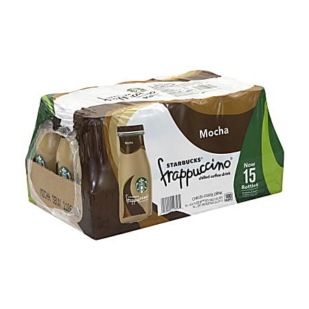 Starbucks® Coffee Drinks, Mocha Frappuccino, 9.5 Oz, Case Of 15 Bottles