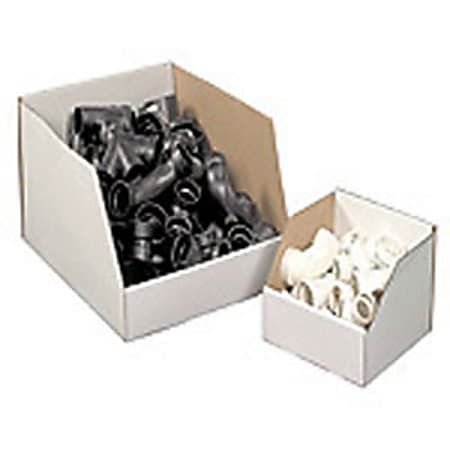 """Office Depot® Brand White Jumbo Open Top Parts Bin Boxes, 10"""" x 12"""" x 18"""", Pack Of 25"""