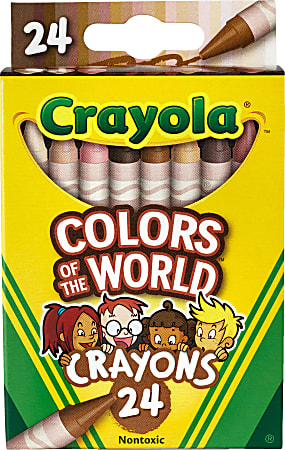 Crayola® Colors Of The World Crayons, Assorted Colors, Pack Of 24 Crayons