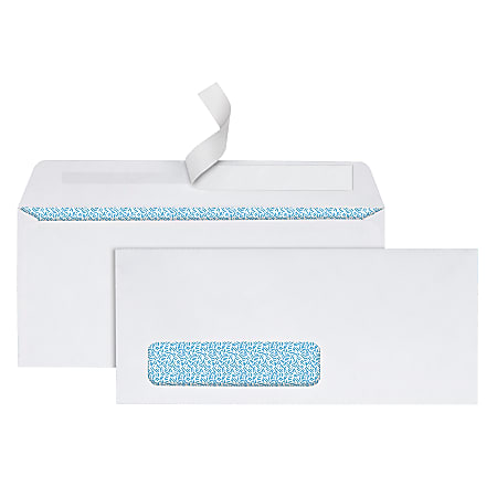 Office Depot® Brand #10 Security Envelopes, Left Window, Clean Seal, White, Box Of 250