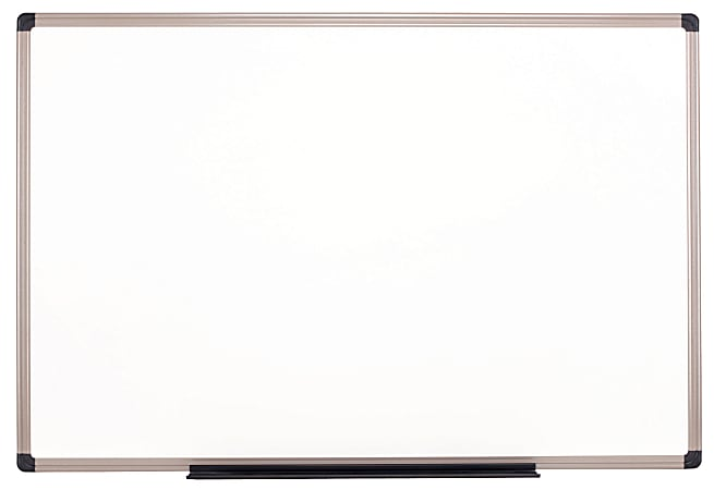 """Realspace™ Magnetic Dry-Erase Whiteboard, 48"""" x 96"""", Aluminum Frame With Titanium Color Finish"""