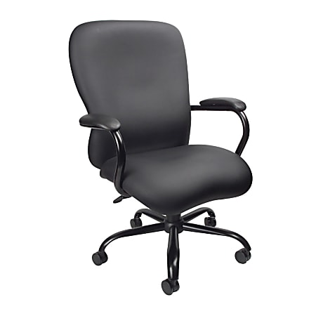 Boss Office Products Heavy-Duty Big And Tall Executive Chair, Black