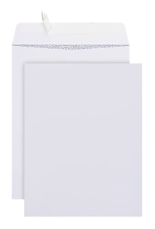 """Office Depot® Brand  9"""" x 12"""" Catalog Envelopes, Security, Clean Seal, White, Box Of 100"""